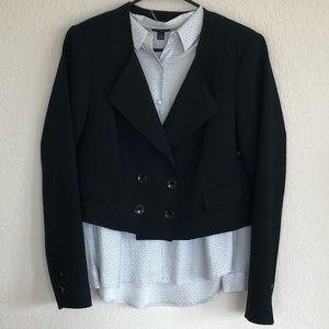 ❗️sale White   black cropped black blazer size 8